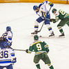 """Alaska Nanooks Mens Hockey Team and the SeaWolves face off at the Carlson Center.  <div class=""""ss-paypal-button"""">Filename: ATH-14-4118-45.jpg</div><div class=""""ss-paypal-button-end""""></div>"""