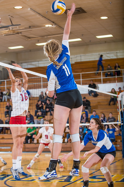 """Freshman Sam Harthun skies for a kill during the Nanooks' win over Simon Fraser in the Patty Center.  <div class=""""ss-paypal-button"""">Filename: ATH-12-3581-172.jpg</div><div class=""""ss-paypal-button-end"""" style=""""""""></div>"""