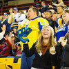 "Kayla Bishop, and Megan Eklund breathe a sigh of relief after UAF Men's Hockey turns the tide against UAA, in a tense, nailbiting 5-4 win of game two of the Alaska Airlines Governor's Cup in the Sullivan Arena.  <div class=""ss-paypal-button"">Filename: ATH-13-4018-155.jpg</div><div class=""ss-paypal-button-end"" style=""""></div>"