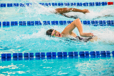 Nanook swimmers take part in a swim meet at the Patty Center pool.  Filename: ATH-14-4050-78.jpg