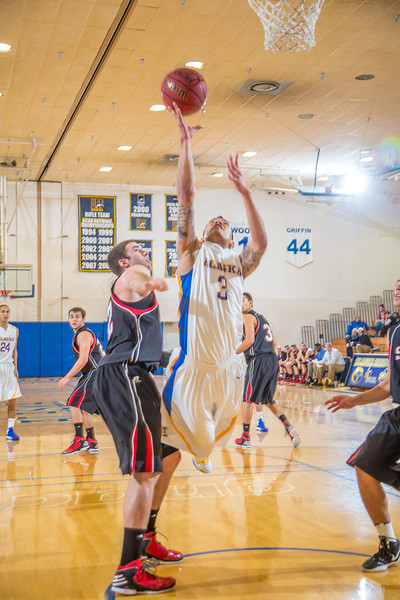 """Senior guard Dominique Brinson gets inside for a  layup during the second half of the Nanooks' 81-58 win over Saint Martin's Jan. 10 in the Patty Center.  <div class=""""ss-paypal-button"""">Filename: ATH-13-3695-64.jpg</div><div class=""""ss-paypal-button-end"""" style=""""""""></div>"""