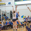 "Freshman Megan Morrison skies for a kill during the Nanooks' match against Montana State-Billings in the Patty Center.  <div class=""ss-paypal-button"">Filename: ATH-12-3638-113.jpg</div><div class=""ss-paypal-button-end"" style=""""></div>"