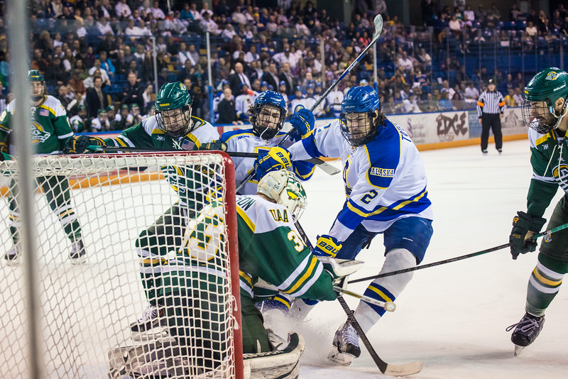 "Alaska Nanooks Mens Hockey Team and the SeaWolves face off at the Carlson Center.  <div class=""ss-paypal-button"">Filename: ATH-14-4118-53.jpg</div><div class=""ss-paypal-button-end""></div>"