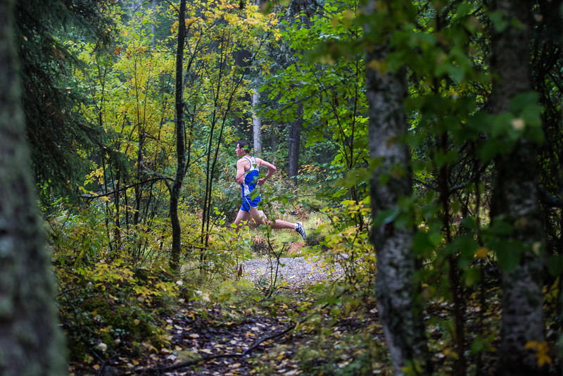 """Alaska Nanooks Men's Cross Country Team competes with Montana State University Billings and Seattle Pacific University at a foggy Saturday morning on campus.  <div class=""""ss-paypal-button"""">Filename: ATH-13-3933-23.jpg</div><div class=""""ss-paypal-button-end"""" style=""""""""></div>"""
