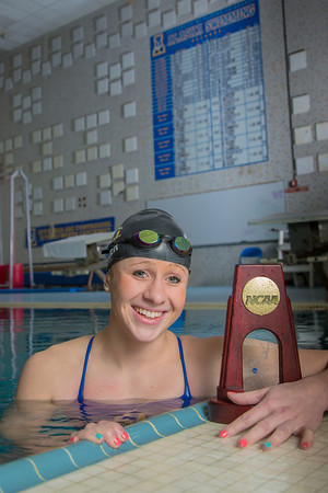 UAF's Bente Heller claimed the first national championship in the program's history, claiming the title in the women's 100 meter backstroke at the NCAA Div II championships in Birmingham, AL.  Filename: ATH-13-3758-45.jpg