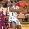 "Freshman point guard Victoria Milton puts up a running one-handed scoop shot during the Nanooks' first GNAC game of the season against Seattle Pacific.  <div class=""ss-paypal-button"">Filename: ATH-13-4015-28.jpg</div><div class=""ss-paypal-button-end"" style=""""></div>"