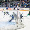 "Senior goalie Steve Thompson guards the net during the Nanooks' 2-1 win over North Dakota in the Carlson Center.  <div class=""ss-paypal-button"">Filename: ATH-12-3601-7.jpg</div><div class=""ss-paypal-button-end"" style=""""></div>"