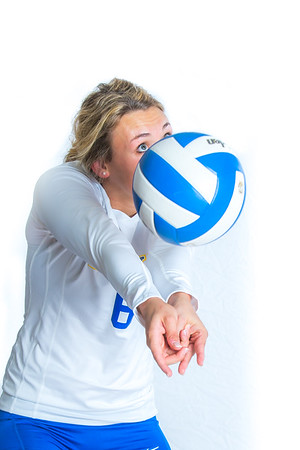Meagan Olsen is a libero/defensive specialist from Fairbanks.  Filename: ATH-15-4615-116.jpg
