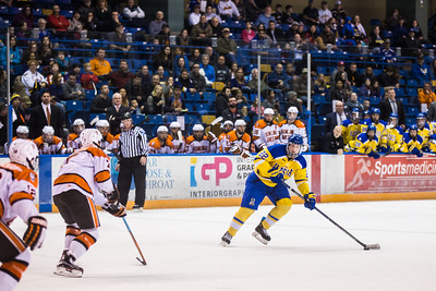 Alaska Nanooks battle Bowling Green State University hockey team at the Carlson Center.  Filename: ATH-16-4812-135.jpg
