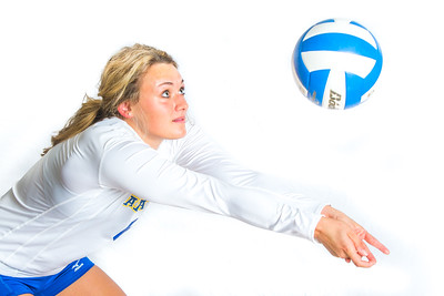 Meagan Olsen is a libero/defensive specialist from Fairbanks.  Filename: ATH-15-4615-120.jpg
