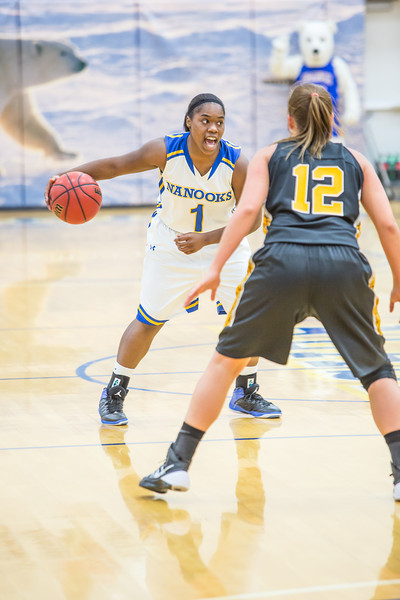 """Freshman guard Victoria Milton shouts out a play to her teammates during the first half of the championship game of the North Star Invitational Tournament against Wayne State in the Patty Gym.  <div class=""""ss-paypal-button"""">Filename: ATH-13-4010-26.jpg</div><div class=""""ss-paypal-button-end"""" style=""""""""></div>"""