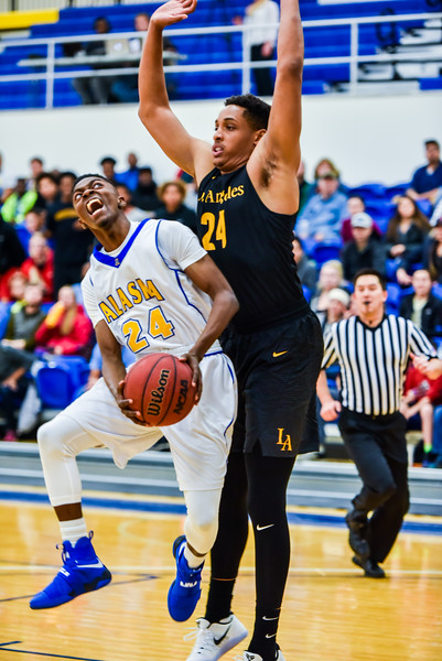 "Daniel Hornbuckle jumps to shoot within the first five minutes of the Nanooks' game against Cal State LA on Nov. 21 in the Patty Gym.  <div class=""ss-paypal-button"">Filename: ATH-16-5072-20.jpg</div><div class=""ss-paypal-button-end""></div>"
