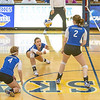 "Senior Reilly Stevens gets a dig during the Nanooks' match against Montana State-Billings in the Patty Center.  <div class=""ss-paypal-button"">Filename: ATH-12-3638-61.jpg</div><div class=""ss-paypal-button-end"" style=""""></div>"