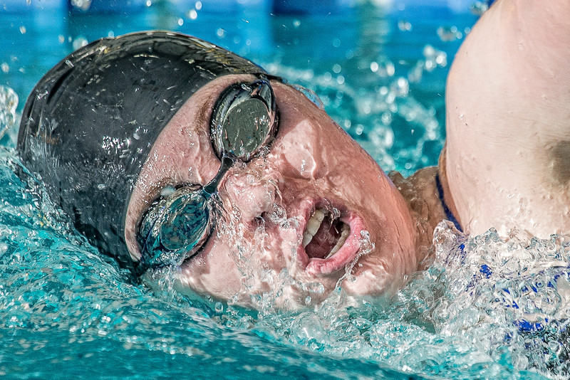 """Freshman Kathryn Pound strokes her way toward the finish line to win the 1000-yard freestyle event during the Nanooks' meet against Loyola Marymount in the Patty Pool.  <div class=""""ss-paypal-button"""">Filename: ATH-13-3991-59-Edit.jpg</div><div class=""""ss-paypal-button-end"""" style=""""""""></div>"""