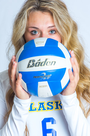 Meagan Olsen is a libero/defensive specialist from Fairbanks.  Filename: ATH-15-4615-099.jpg