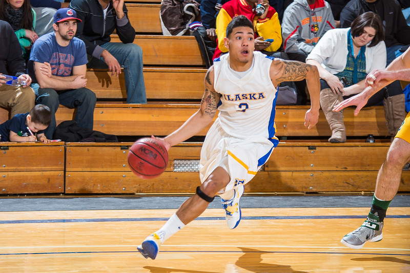 """Senior guard Dominique Brinson drives toward the hoop during the Nanooks game against the UAA Seawolves in the Patty Center.  <div class=""""ss-paypal-button"""">Filename: ATH-13-3700-161.jpg</div><div class=""""ss-paypal-button-end"""" style=""""""""></div>"""