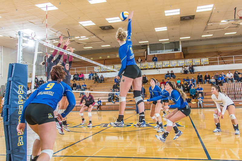 """Sophomore Sam Harthun skies for another kill against Central Washington.  <div class=""""ss-paypal-button"""">Filename: ATH-13-3980-94.jpg</div><div class=""""ss-paypal-button-end"""" style=""""""""></div>"""