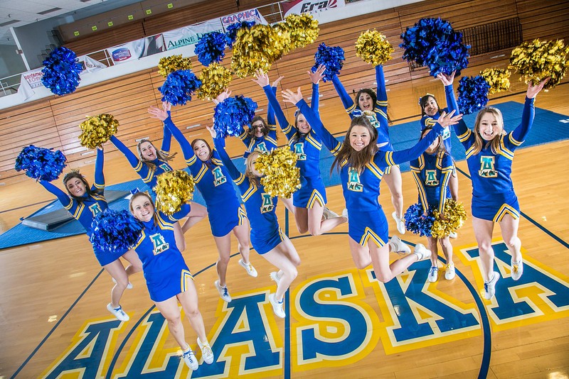 "The UAF cheerleading squad performs a variety of poses and routines during a practice session in the Patty Gym.  <div class=""ss-paypal-button"">Filename: ATH-13-3751-338.jpg</div><div class=""ss-paypal-button-end"" style=""""></div>"
