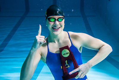 UAF's Bente Heller claimed the first national championship in the program's history, claiming the title in the women's 100 meter backstroke at the NCAA Div II championships in Birmingham, AL.  Filename: ATH-13-3758-8.jpg