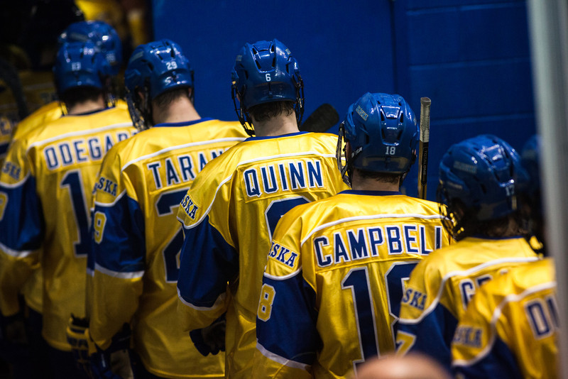 """UAF Nanooks' Men's Hockey Team face off Bowling Green State University Saturday, Dec. 8, 2012, at the Carlson Center. The Nanooks won the shootout at the end of a tied game.  <div class=""""ss-paypal-button"""">Filename: ATH-12-3676-152.jpg</div><div class=""""ss-paypal-button-end"""" style=""""""""></div>"""