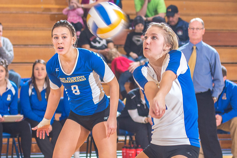 """Senior Allison Oddy returns serve during the Nanooks' match against Montana State-Billings in the Patty Center.  <div class=""""ss-paypal-button"""">Filename: ATH-12-3638-157.jpg</div><div class=""""ss-paypal-button-end"""" style=""""""""></div>"""