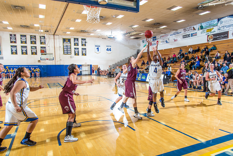 """Junior point guard Benissa Bulaya puts up a rguarded shot during the Nanooks' first GNAC game of the season against Seattle Pacific.  <div class=""""ss-paypal-button"""">Filename: ATH-13-4015-67.jpg</div><div class=""""ss-paypal-button-end"""" style=""""""""></div>"""