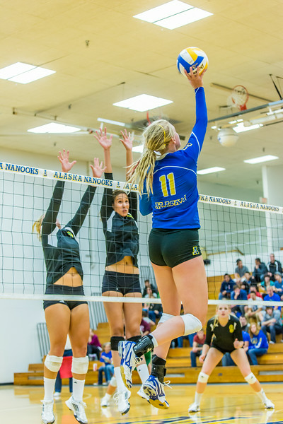 """Action from the Nanooks match in the 2013 Nanook Classic tournament in the Patty Center.  <div class=""""ss-paypal-button"""">Filename: ATH-13-3930-189.jpg</div><div class=""""ss-paypal-button-end""""></div>"""