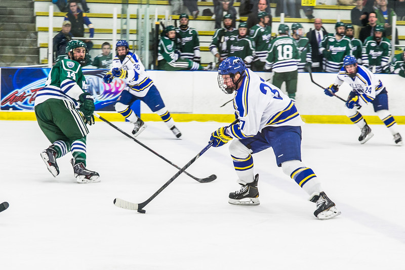 """Senior Cody Kunyk leads a break toward the goal late in the Nanooks' game against the Mercyhurst Lakers in the Patty Ice Arena.  <div class=""""ss-paypal-button"""">Filename: ATH-13-3982-161.jpg</div><div class=""""ss-paypal-button-end"""" style=""""""""></div>"""