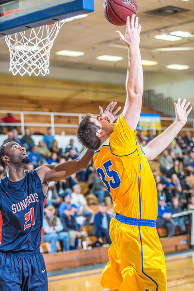 "Senior Sergej Pucar scores on a nifty inside move during the Nanooks' 83-72 win over Fresno Pacific in the championship game of the GCI Alaska Invitational tournament. Pucar was a huge factor in the game, scoring 25 points, including 11 straight, during a crucial 23-6 second-half run as the Nanooks pulled away.  <div class=""ss-paypal-button"">Filename: ATH-13-4005-74.jpg</div><div class=""ss-paypal-button-end"" style=""""></div>"