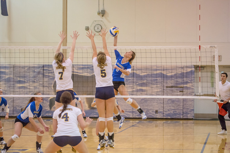"Senior Reilly Stevens skies for a kill during the Nanooks' match against Montana State-Billings in the Patty Center.  <div class=""ss-paypal-button"">Filename: ATH-12-3638-121.jpg</div><div class=""ss-paypal-button-end"" style=""""></div>"
