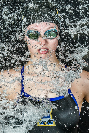Nanook swimmer Gabi Summers poses at the Patty Pool.  Filename: ATH-14-4170-11.jpg