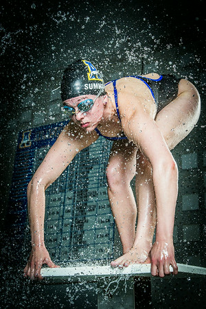 Nanook swimmer Gabi Summers poses at the Patty Pool.  Filename: ATH-14-4170-137.jpg