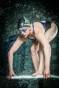 Nanook swimmer Gabi Summers poses at the Patty Pool.  Filename: ATH-14-4170-137.jpg