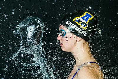 Nanook swimmer Gabi Summers poses at the Patty Pool.  Filename: ATH-14-4170-154.jpg