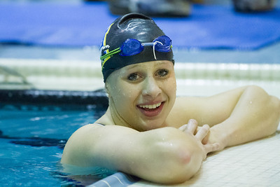 Nanook swimmers take part in a friendly but fierce competition during the 2012 Blue and Gold Swim Meet Saturday, Oct. 13 at the Patty Center.  Filename: ATH-12-3588-43.jpg