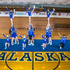 "The UAF cheerleading squad performs a variety of poses and routines during a practice session in the Patty Gym.  <div class=""ss-paypal-button"">Filename: ATH-13-3751-40.jpg</div><div class=""ss-paypal-button-end"" style=""""></div>"