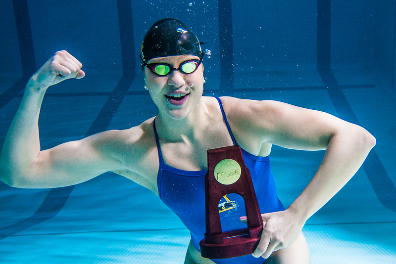 """UAF's Bente Heller claimed the first national championship in the program's history, claiming the title in the women's 100 meter backstroke at the NCAA Div II championships in Birmingham, AL.  <div class=""""ss-paypal-button"""">Filename: ATH-13-3758-17.jpg</div><div class=""""ss-paypal-button-end"""" style=""""""""></div>"""
