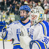 "Senior Michael Quinn congratulates goal tender Davis Jones after the Nanooks completed a three-goal rally and defeated the Mercyhurst Lakers 5-4 in the Patty Ice Arena.  <div class=""ss-paypal-button"">Filename: ATH-13-3982-213.jpg</div><div class=""ss-paypal-button-end"" style=""""></div>"