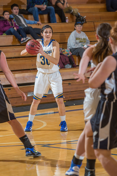 """Janessa Newman looks for an open teammate during a game against Montana State Billings.  <div class=""""ss-paypal-button"""">Filename: ATH-13-3720-30.jpg</div><div class=""""ss-paypal-button-end"""" style=""""""""></div>"""