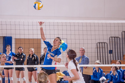 Senior Reilly Stevens returns a shot during the Nanooks' match against Montana State-Billings in the Patty Center.  Filename: ATH-12-3638-129.jpg