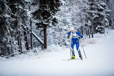 Senior Michael Fehrenbach competes in the men's 8.5m race during day one of the Nordic Cup at Birch Hill on Nov. 19, 2016.  Filename: ATH-16-5069-56.jpg