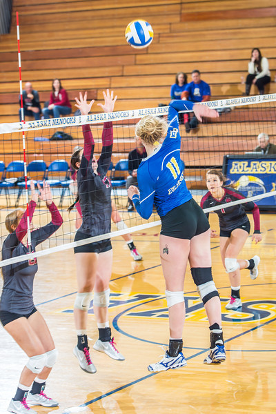 """Sophomore Sam Harthun skies for another kill against Central Washington.  <div class=""""ss-paypal-button"""">Filename: ATH-13-3980-144.jpg</div><div class=""""ss-paypal-button-end"""" style=""""""""></div>"""