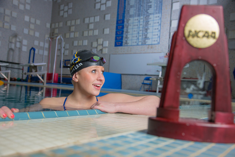 """UAF's Bente Heller claimed the first national championship in the program's history, claiming the title in the women's 100 meter backstroke at the NCAA Div II championships in Birmingham, AL.  <div class=""""ss-paypal-button"""">Filename: ATH-13-3758-71.jpg</div><div class=""""ss-paypal-button-end"""" style=""""""""></div>"""