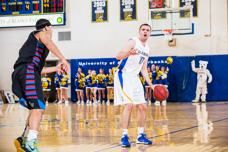 """Stefan Tica defends the ball during the Nanooks' game against Northwest Indian College in the Patty Center.  <div class=""""ss-paypal-button"""">Filename: ATH-13-4034-43.jpg</div><div class=""""ss-paypal-button-end"""" style=""""""""></div>"""