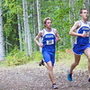 "Tux Seims and Ross MacDougal races to the finish line Thursday, August 30, 2012 on the UAF West Ridge ski trails.  <div class=""ss-paypal-button"">Filename: ATH-12-3530-61.jpg</div><div class=""ss-paypal-button-end"" style=""""></div>"