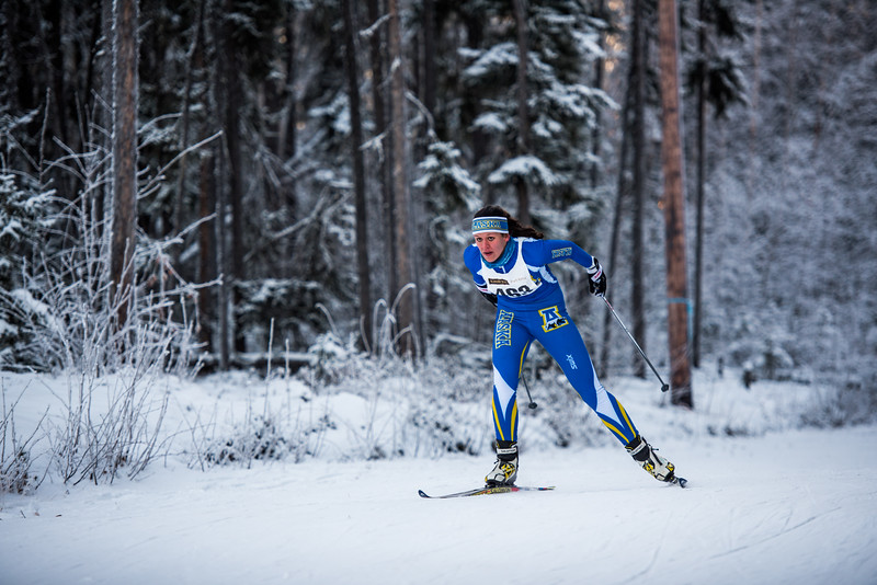 "UAF skiier Ann-Cathrin Uhl competes in the women's 6.5km ski race during day one of the Nordic Cup at Birch Hill on Nov. 19, 2016.  <div class=""ss-paypal-button"">Filename: ATH-16-5069-25.jpg</div><div class=""ss-paypal-button-end""></div>"