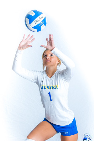 Miranda Grieser, a setter from Maple Valley, Washington, led the Nanooks in assists during her senior season in 2015.  Filename: ATH-15-4615-062.jpg