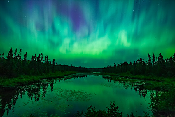 Aurora over Cascade River