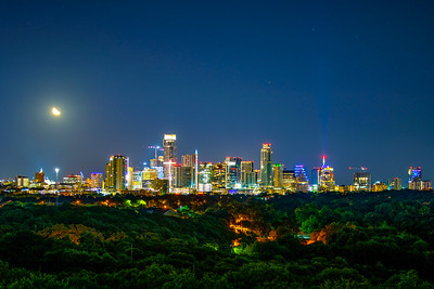 Third Quarter Moon Over Austin