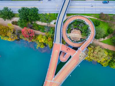 Pfluger Pedestrian Bridge Fall